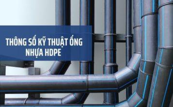 thông số kỹ thuật ống HDPE