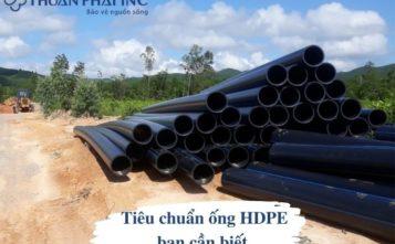 tiêu chuẩn thi công và nghiệm thu đường ống hdpe